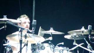 Nick tocando la batería (Parte 2) - Soundcheck Santiago, Chile - 1 de marzo 2009