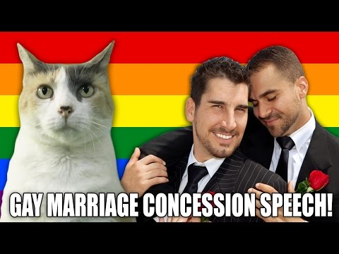 Creationist Cat Gay Marriage Concession Speech!