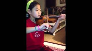 First Time Playing Happy Birthday on Violin