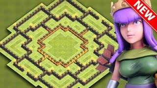Clash Of Clans | EPIC TH9 HYBRID BASE FOR NEW UPDATE | BEST Town Hall 9 Farming / Trophy Base 2016