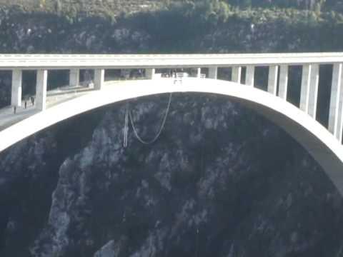 Bungee na moście Bloukrans – widoki na skoki