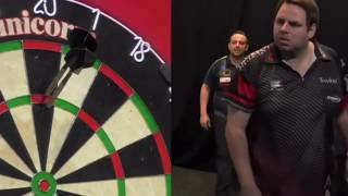 ADRIAN LEWIS & JOSE ANTONIO JUSTICIA PERALES SEPARATED BY STEWARDS AT UK OPEN QUALIFIERS