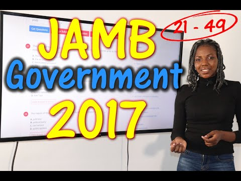 JAMB CBT Government 2017 Past Questions 21 - 49
