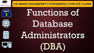 Functions of Database Administrators(DBA), DBMS Tutorial for Beginners in Hindi, English width=