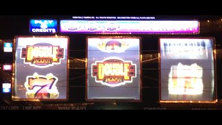 DOUBLE JACKPOT 777 ✦LIVE PLAY✦ Slot Machine Pokie at Caesars, Las Vegas