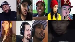 Falatuzetrê, Duzz, Julião, Beatriz Vitek, Daniel, Moreno, Neném e Heezy reagindo a Choice
