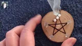 Winter Pentagram Spell Charm