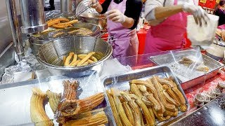 Huge Filled Churros. Street Food in Nice, France