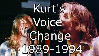 Nirvana - Blew - Kurt's Voice Change 1989-1994 (Live Mix)