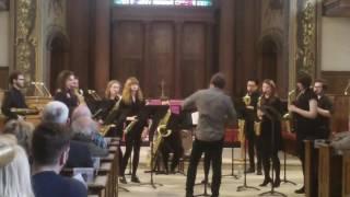 Dancing Baris - Trinity Saxes play Zorba's Dance with Gerard McChrystal