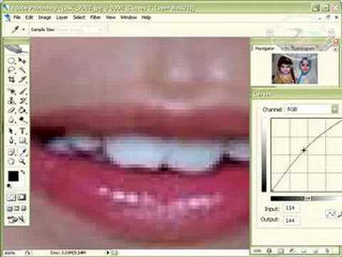 تبييض الأسنان والعين بالفوتوشوب