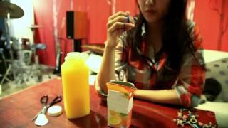 產品愛用者 荷希用CRYOS冰晶能量水晶,測試果汁,為天然產品。