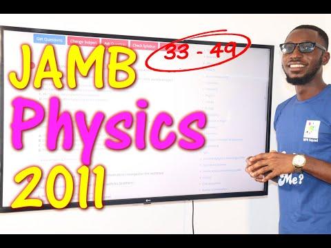JAMB CBT Physics 2011 Past Questions 33 - 49