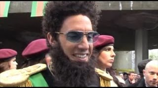 "Sacha Baron Cohen's ""THE DICTATOR"" FUNNY interviews"