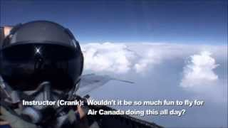 F18 training flight landing in a civilian airport