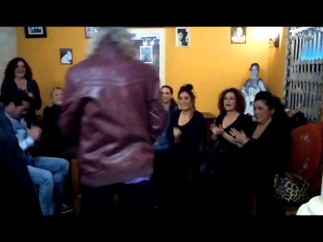 Vídeo durante la fiesta flamenca en La Guarida del Ángel.