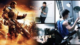 GEARS OF WAR 2 - Heroic Assault (Violin | Piano | Guitar | Drums Cover) ft. HarbingerDOOM