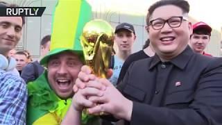 'Next World Cup in North Korea': Kim Jong-un lookalike visits Moscow width=