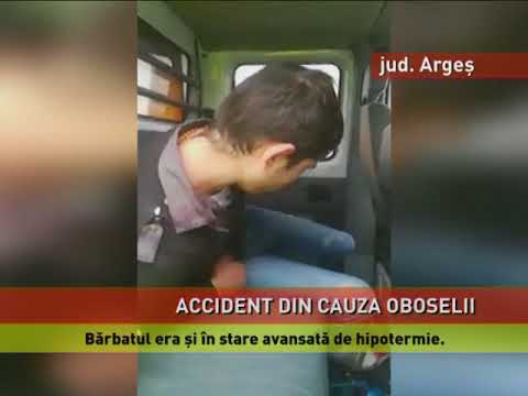 Accident cu un șofer care a adormit la volan