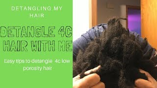 How To: Detangle DRY + MATTED | little shedding  Detangling | Type 4a 4b 4c Natural Hair |