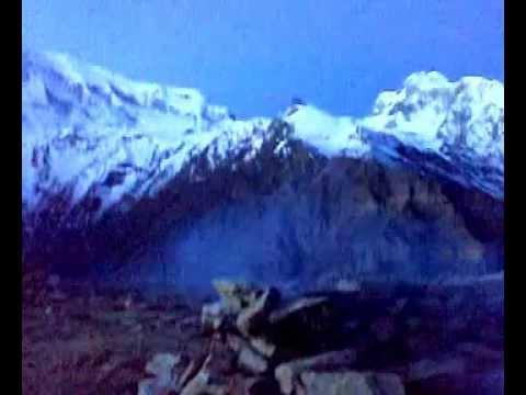 Pisang Peak, Annapurna Circuit trek, Nepal. January 2010