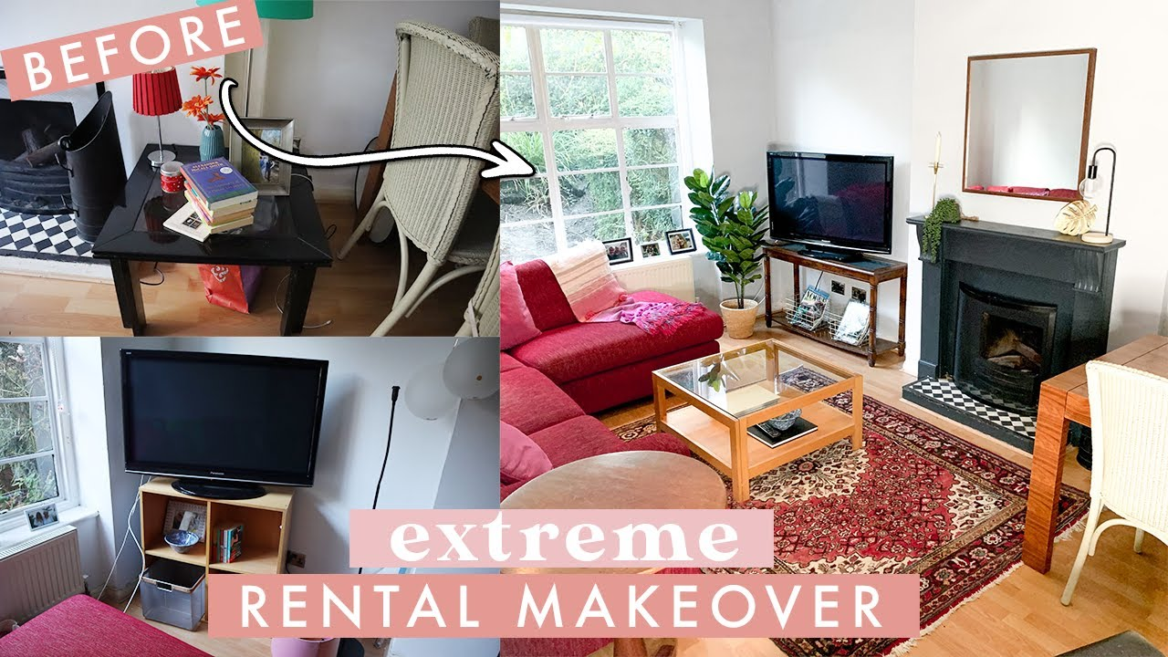 Extreme Living Room Makeover on a Budget | Rental Makeover in London
