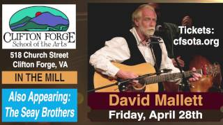David Mallett: Live In Concert In Clifton Forge, Virginia, April 28, 2017