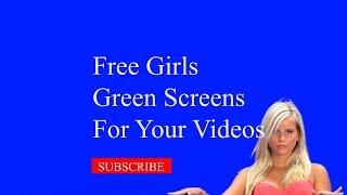 ✅Free Green Screen Girls #017