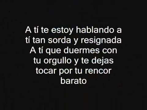A Ti En Espanol de Ricardo Arjona Letra y Video