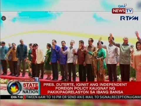 Duterte, iginiit ang independent foreign policy sa ...