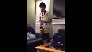 13 year old alto sax jazz solo (improv)