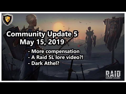 RAID: SL - Community Update #5 - Lore videos?! Dark Athel?