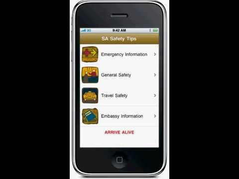 SouthAfrica Safety 2010 World Cup iPhone App