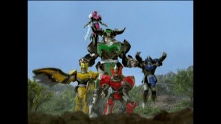 Mystic Titans First Zord Fight   Power Rangers Mystic Force