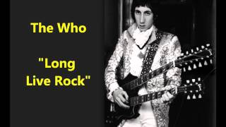 """The Who """"Long Live Rock"""" live for BBC radio Pete Townshend sings classic rock"""