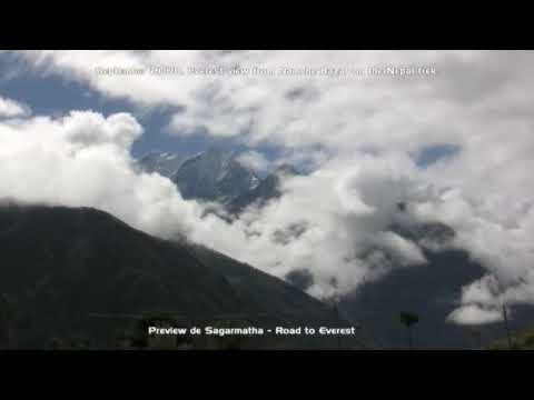Namche Bazar, Nepal, Everest views on the Everest trek
