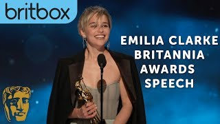 Emilia Clarke Thanks Game of Thrones Creators for Her Big Break | Britannia Awards