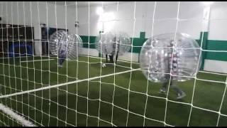 Futebol de bolha no Bubble Sports Bar em Porto Alegre