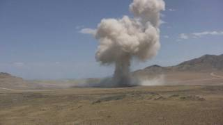 Huge Explosion and Shockwave