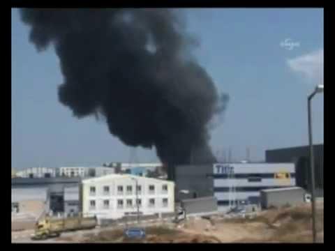 Tuzla'da kimya fabrikasında yangın.