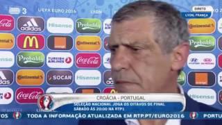 Fernando Santos   flash interview   PORTUGAL  X  HUNGRIA   22/06/2016