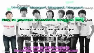 U-KISS - Round & Round (Bingeul Bingeul) lyrics