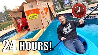 24 HOUR OVERNIGHT POOL FORT!