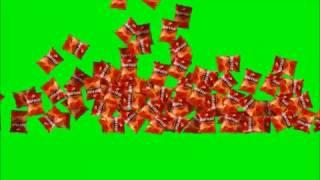 Falling Doritos ( Doritos caindo)  Green screen (chroma key)