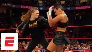 Ronda Rousey takes down Sonya Deville on WWE Monday Night Raw | ESPN