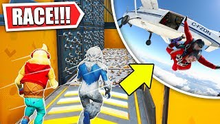 deathrun race... BUT LOSER JUMPS OUT OF A PLANE!