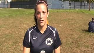 PSH women's soccer Mackenzie Gates halftime interview vs Morrisville st