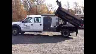 2005 F550 4x4 Crew Cab Dump with L Pac toolbox