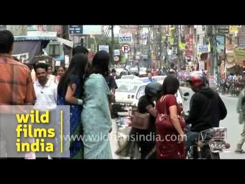 Nepali women wearing sarees!