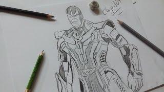 Dibujo de Thanos: Avengers Infinity War/ Drawing Thanos: Avengers Infinity War